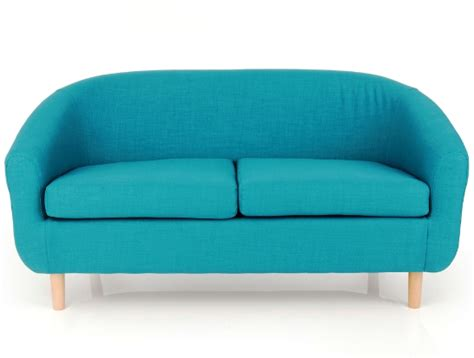 cotham linen effect teal two seater tub upholstered chair