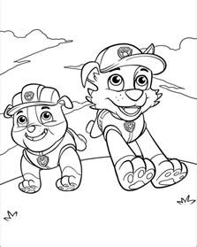 rubble paw patrol coloring page paw patrol coloring pages printable coloring pages