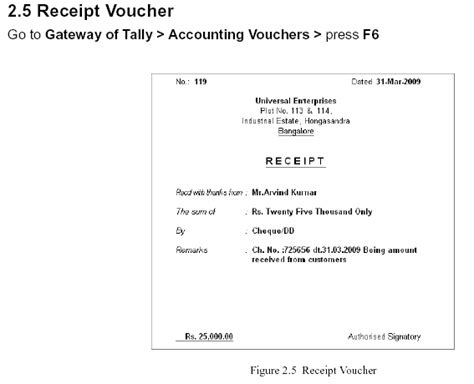 Acknowledgement Letter For Receiving Voucher Cheque Receipt Template