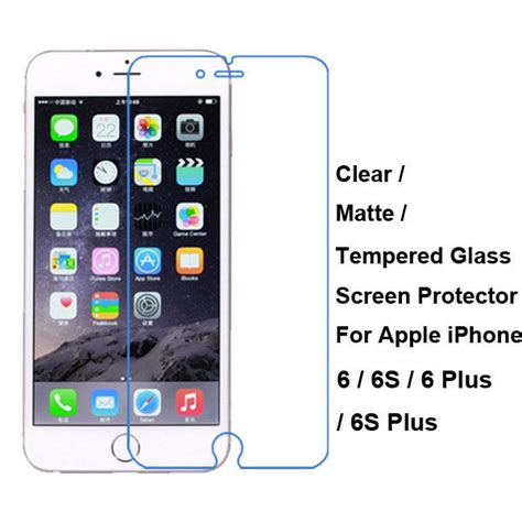 tempered glass clear matte screen protector guard for iphone 6 6s 7 7 plus ebay