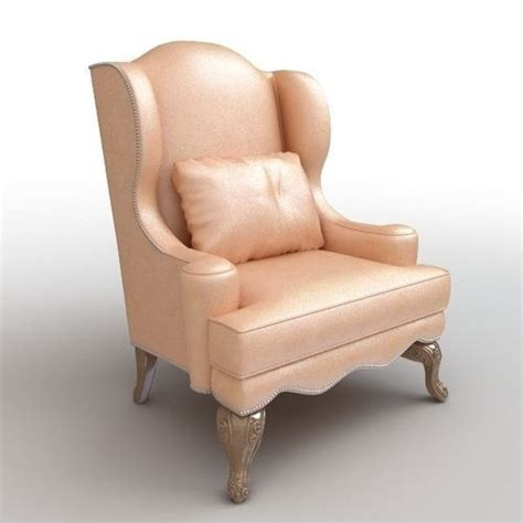 armchair throws club armchair with throw pillow 3d model cgtrader