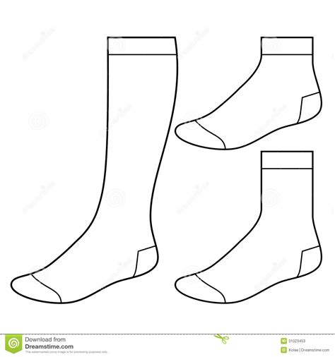 sock template socks blank clipart