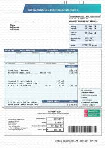 Free Utility Bill Template by Documents Bank Statements Utility Bills