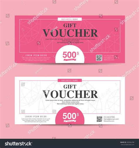 template for coupons the size of gift cards vector illustration gift voucher template with colorful