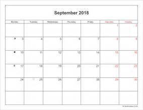 September 2018 Calendar With Holidays September 2018 Calendar Printable With Bank Holidays Uk
