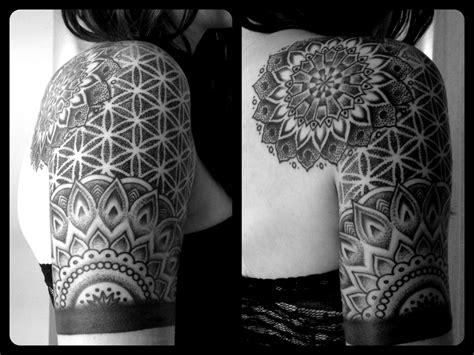 mandala tattoo sleeve tattoos on geometric tattoos mandala