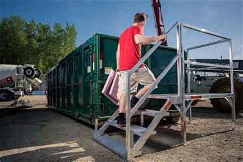 osha stairs, portable steps, trailer steps, building metal