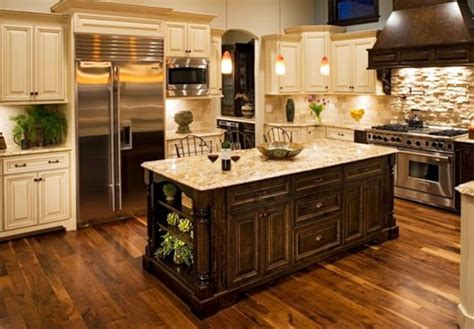 vintage center island cabinets with granite kitchen