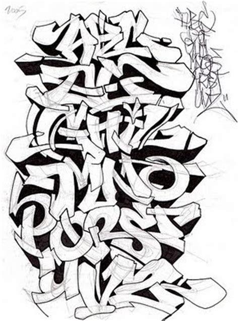 write  graffiti alphabet style  pencil