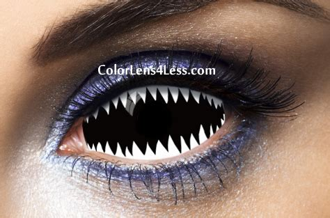 jaws white sclera contact lens (pair) [019] $98.00
