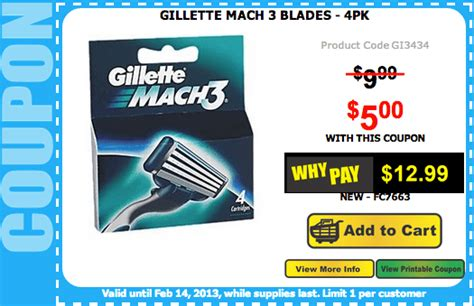 mach 3 coupons canada