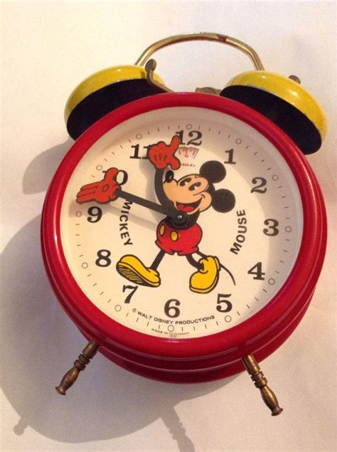 the big sale vintage walt disney productions retro pie eyed mickey mouse manual alarm clock by
