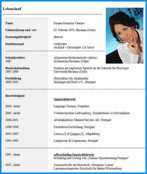 Lebenslauf Vorlagen Akademiker 8 Lebenslauf Foto Business Template