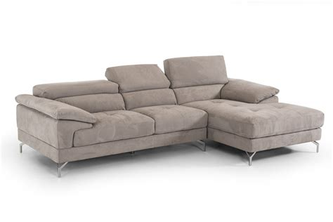 grey fabric sectional 2 piece marion grey fabric sectional