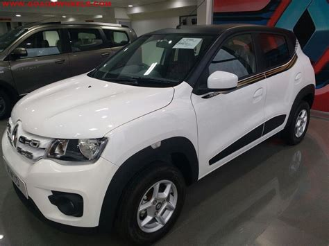 renault kwid white colour renault kwid customized looks stunning now available in goa