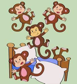 monkeys jumping in the bed five little monkeys jumping on the bed fairy tale
