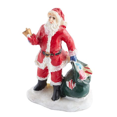 miniature santa figurine christmas miniatures