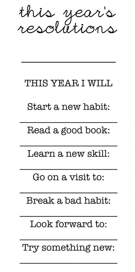 new year worksheets for middle school 17 best ideas about new year s resolutions on