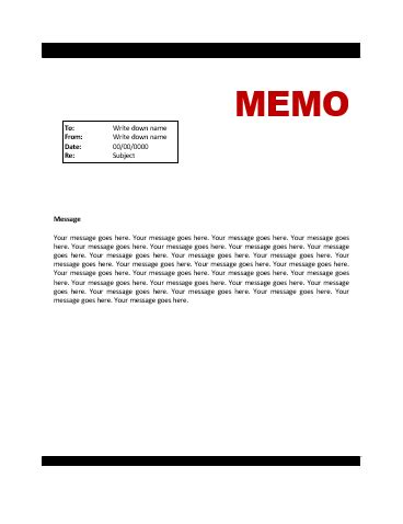 memo to file template memo template free word templates