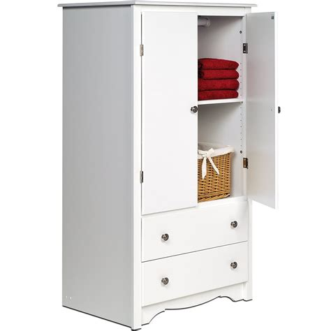 free standing armoire monterey two door armoire white in dressers