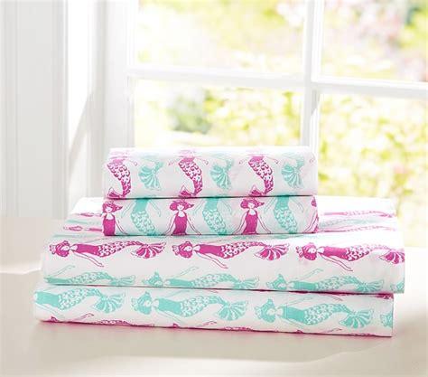 Mermaid Crib Sheet by Preppy Mermaid Sheet Set Pink Turquoise Pottery