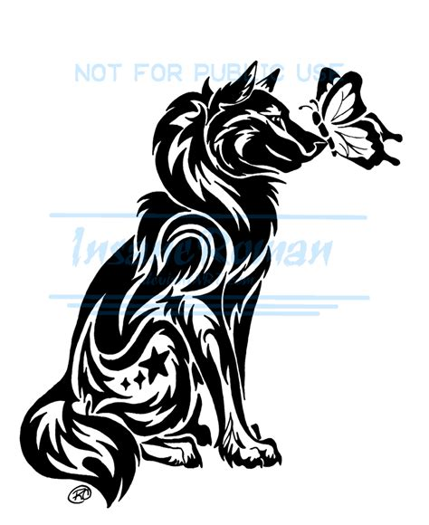 wolf butterfly tattoo designs wolf and butterfly wip by insaneroman deviantart