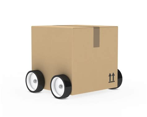 cardboard box with wheels photo free