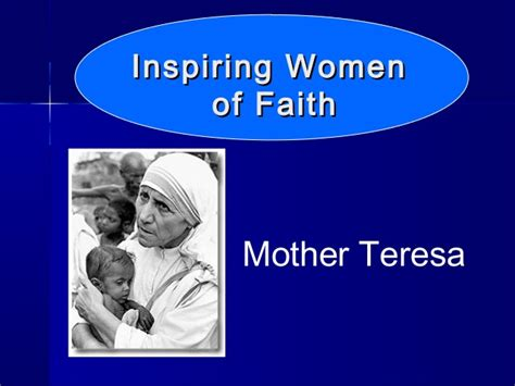 biography of mother teresa ppt inspiring women of faith power point