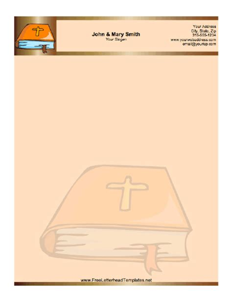free church letterhead templates bible letterhead