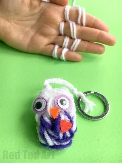 finger knit projects finger knitting owl ornaments ted s