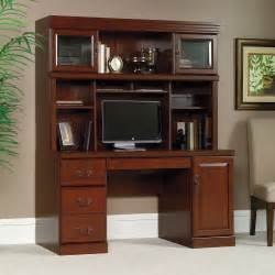 Cherry Computer Desk With Hutch Heritage Hill Hutch 404975 Sauder
