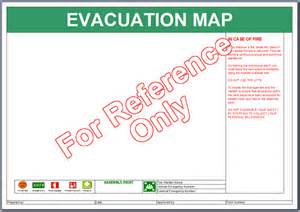 Emergency Exit Map Template by Emergency Exit Diagram Templates Emergency Evacuation Maps