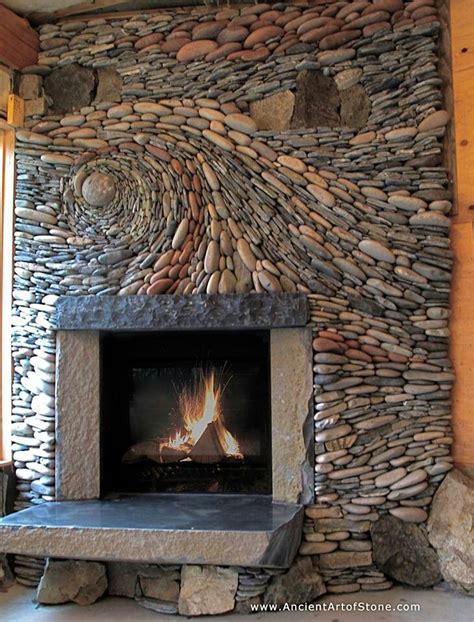 natural stone fireplace natural stone fireplace fireplaces pinterest