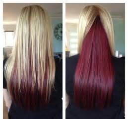 hair styes dye at bottom blonde hair with red underneath hair colors ideas