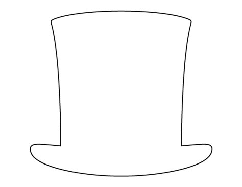 printable abraham lincoln hat template