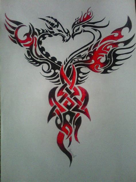 ghastly dragon tattoo on back image detail for free download phoenix tattoos design