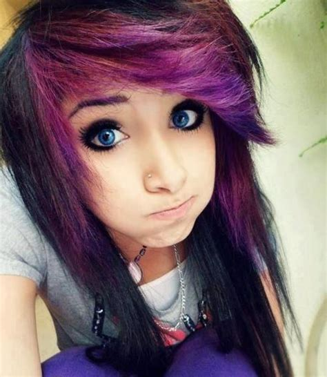 girl hairstyles purple 1000 images about emo hair styles on pinterest emo