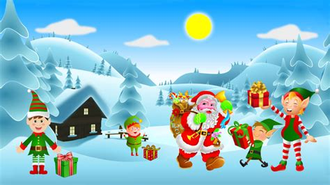 merry christmas winter snow cheerful kids  christmas gifts  santa claus clip art