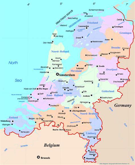 netherlands map netherlands map europe
