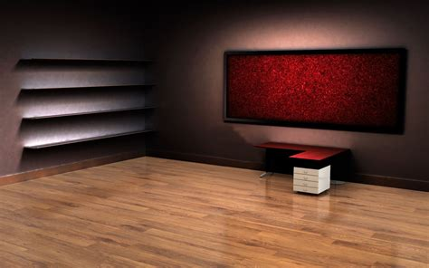 3d empty room desktop wallpaper ideas for the house