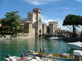 Sirmione s little harbor the view on the castle