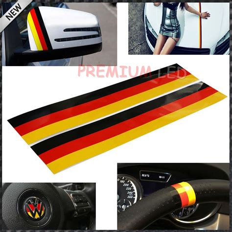 audi germany flag 2pcs germany flag color stripe decal sticker for euro car
