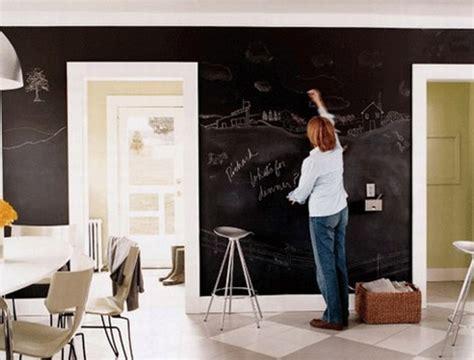 dry erase diy slate black paint  full wall chalk boards