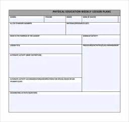 blank pe lesson plan template physical education lesson plan template 14 free sles