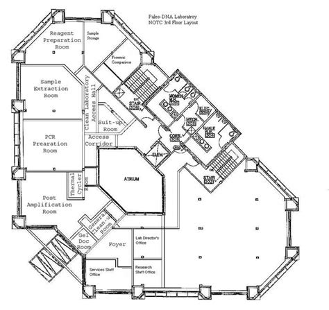 Laboratory Floor Plan | paleo dna laboratory floor plan