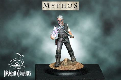 paranoid miniatures paranoid miniatures shows the painted professor model for