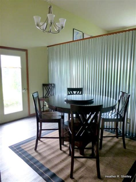 corrugated metal accent wall lgh galvanized anything - Metal Accent Wall