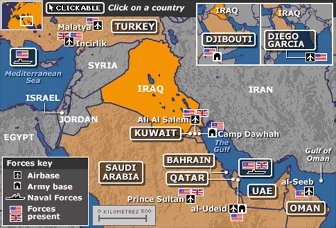middle east map us bases news iraq key maps