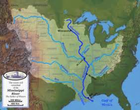 map of the 7 000 rivers that feed into the mississippi