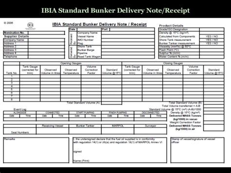 fuel receipt template marine education bunker checklist calculations and sopep